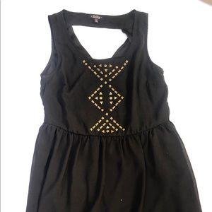 BeBop Black dress stud design size medium